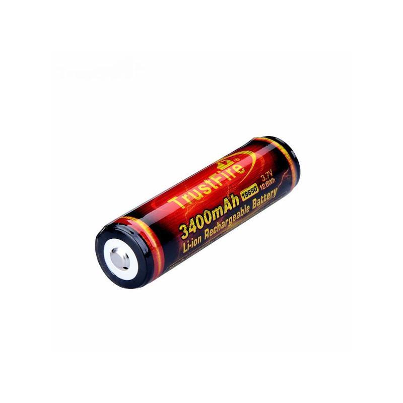 18650 3400mAh 3.7V リチウムイオン電池 PSE対応 TrustFire トラストファイア