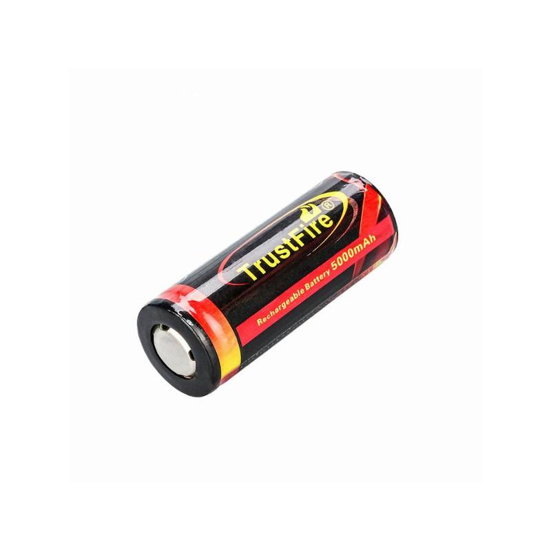 26650 5000mAh 3.7V リチウムイオン電池 PSE対応 TrustFire トラストファイア